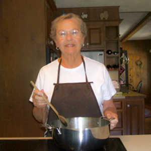 Mary Ellen Williams Cooking Soup