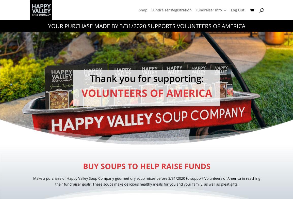 Volunteers of America Demo Site Screenshot