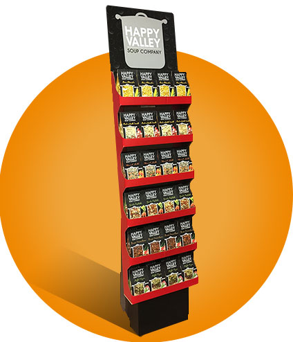POP Display with Happy Valley Soups